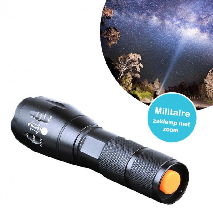Militaire zaklamp met zoom