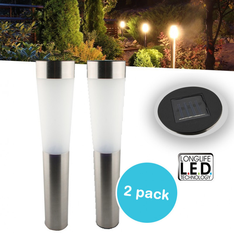 2 stuks grundig solar led lampen. Black Bedroom Furniture Sets. Home Design Ideas